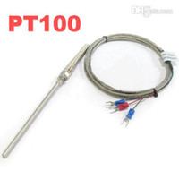 Wholesale Stainless Steel Shield cm Probe Tube RTD PT100 Temperature Sensor with m Cable Wires
