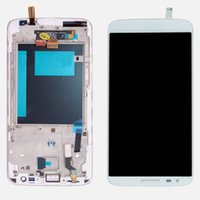 Wholesale Lg Optimus White - Wholesale-White LCD Display Digitizer For LG Optimus G2 D800 D801 Touch Screen Digitizer Assembly With Frame For LG G2 D800 D803 with Logo