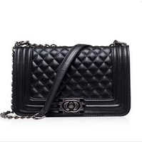 Wholesale 2017 Famous Designers Women s Quilted Double Flaps Lambskin Handbag PU Leather Shoulder bag messenger Bag Crossbody Bags
