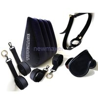 Wholesale Toughage Sex Pillows - Sex Products 1 Set TOUGHAGE Sex Pillow, Sex Furniture,Hand Cuffs ,Mouth Gag,Fetish Mask, Sex Toys for Couples