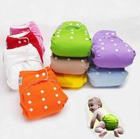 Wholesale Sassy Diapers - Baby Diaper Washable Reusable nappies changing Grid Cotton training pant happy cloth diaper sassy fraldas Winter Summer Version 7 Colors