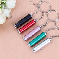 Wholesale Electronic Advertising - Keychain NEW low-priced mini flashlight detector UV Keychain anti-counterfeiting advertising