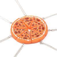 Wholesale pizza necklace - 2016 Newest Pizza Necklace Best Friends Forever Necklace For Women Men Children Friendship Best Gifts colar amigos ZJ-0903520 12pcs