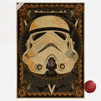 Wholesale Paper Wall Paintings - Vintage Darth Vader Cartoon Poster Star Wars Retro Art Wall Painting Party Home Decoration for kit Gift