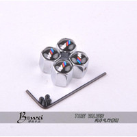 Wholesale Stainless Steel Car Wheels - Free Shipping Theftproof Stainless Steel 4PCS Car Wheel Tire Valves Tyre Stem Air Caps Airtight Cover For BMW modifications-m