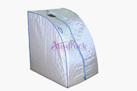 Wholesale used detox machines for sale - Group buy Red Blue Pink Silver Steam Sauna home use Slimming machine Detox Sauna Box Body Skin Health Care Weight Loss device CE