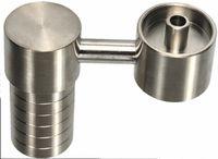 14 mm yan çivi toptan satış-Toptan yüksek kalite 14mm18mm kadın titanyum tırnak silika yan kol domeless titanyum tırnak su sigara boruları aksesuarları