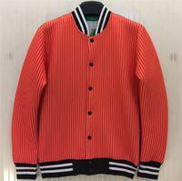 Wholesale Men S Red Jackets - w151231 New 2014 Winter Women Man Black Red Color Hip Hop Skateboard Boy Stripe Print Jacket Cotton 3D Design Brand Coat Tops Size S-XL