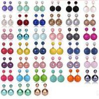 Wholesale Pearl Poster - Early autumn posters flagship models sided pearl stud earrings earrings female Korean fashion jewelry earrings bubble B273