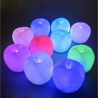 luce notturna a led 7 Cambia colore Apple a forma di LED Natale Mood lampada Night Light Halloween Christmas Eve regalo