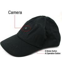reproductor de mp3 cámara grabadora de video al por mayor-Cámara de tapa con reproductor de MP3 Bluetooth Romote Control HD Hat grabadora de video mini cámara DVR estenopeica negro en paquete comercial