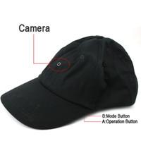 mp3 player dvr venda por atacado-Cap Camera com leitor de MP3 Bluetooth Romote Controle HD Hat mini DVR pinhole câmera gravador de vídeo preto no pacote de varejo