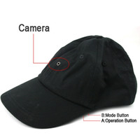 gorra de beisbol cámara de video al por mayor-Cámara de tapa con reproductor de MP3 Bluetooth Romote Control HD Hat grabadora de video mini cámara DVR estenopeica negro en paquete comercial