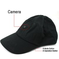 Wholesale hd hat camera - Cap Camera with MP3 player & Bluetooth & Romote Control HD Hat mini DVR pinhole camera video recorder black in retail package