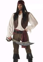 Wholesale Cheap Halloween Adult Costumes - Wholesale-Rogue Pirate Costume 6H99006 Free shipping Adult Men's Pirate Costumes cheap Adult Men's Halloween Costumes sexy cosplay