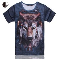 2015 Hot Sale T Homens Two-side 3D Roupa Animal Harajuku shirt Tops Cat Dog Hamsters Panda elefante Lobo Men Camiseta
