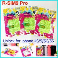 Wholesale r sim pro - Newest R-SIM 9 RSIM9 R-SIM9 Pro Perfect SIM Unlock Sim Official IOS 7.0.6 7.1 ios 7 RSIM 9 for iphone 4S 5 5S 5C GSM CDMA WCDMA 3g 4g
