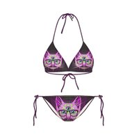 Wholesale gril swimwear - FG1509 Summer style New Fashion Gril Women cute swimwear sexy galaxy bikini set vintage d cat Printed top bottom swimsuit beachwear