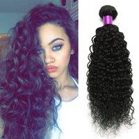 Wholesale afro kinky brazilian hair weave resale online - Brazilian Deep Curly Virgin Hair Wefts Bundles Natural Black g Brazilian Virgin Hair Curly Afro Kinky Curly Hair Extensions