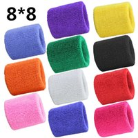 Wholesale Terry Cloth Sweatband Wholesale - High Quality Sport Equipment Unisex Cotton Wrist Sweat Band Terry Cloth Sweatbands Football Basketball Fitness Wrist Band