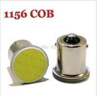 Wholesale Ba15s Led Bulbs Rv - 100PCS 12 SMD LED COB Chips 1156 BA15s Car Auto RV Trunk urn Signal Lights Bulb Lamp DC12V Yellow Red White wholesale
