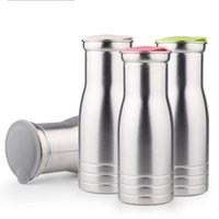 Wholesale Cross Country Designs - Stainless Steel Kettle Single Layer Heat Resistant Water Bottles Round And Large Caliber Design Stemless Cup Silver 17 64fn B