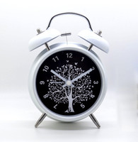 Wholesale Large inch metal muted creative alarm clock with night light double bell lazy luminova alarm clock