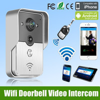 2015 Hot New Wifi Sonnette Camera Wireless Video Interphone Téléphone Contrôle IP Door Phone Sonnette de porte sans fil pour la protection de sécurité Livraison gratuite