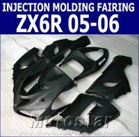 ingrosso corredo per 636-Kit carenatura moto per iniezione per Kawasaki Ninja ZX6R 636 05 06 ZX-6R 2005 2006 carenatura carrozzeria nero opaco set XV78