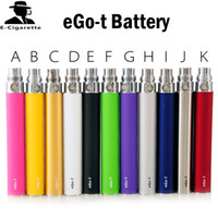 Wholesale Electronic Cigarette Dhl Shipping - EGO-T Battery Multi-color E Cigarette Battery Ego Electronic Cigarette Battery 650mAh 900mAh 1100mAh Free Shipping Via DHL 0204089