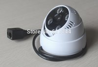 Wholesale Array Leds Cameras - ONVIF 2.0 Video surveillance Security CCTV Camera System 720P HD IP Camera with 4pcs Array Leds and 4ch H.264 NVR KIT