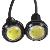 Wholesale Eagle Pair - 1 pair of 12V 1.5W Ultra-thin Car Eagle Eye Lights LED Day Running Lights & Screw Energy Saving Reverse Lamp CEC_441