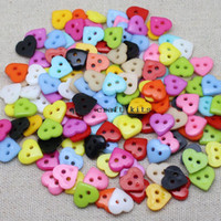 Wholesale Cute Cabochons - 1500pcs 12mm Cute Heart Plastic Button lot Mix color Flatback Resin Acrylic Cabochons