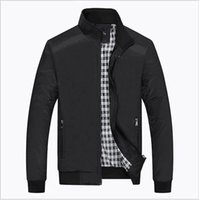 Wholesale Zip Up Winter Parkas - Men Checker Outwear Coat Parka Slim Zip Up Trench Coats Jackets Casual Fashion Jacket winter jacket men brand clothing hight quality free s