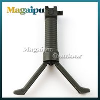 Wholesale Tactical Mount For Pistol - Hunting Tactical RIS RAS pistol Fore grip Bipod for AR 15 16 M4 airsoft QD System for 20mm rail mount