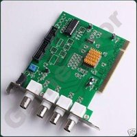 Wholesale Pci Card Security Dvr Channel - Free shipping 4 Channels CCTV DVR Security PCI Capture Card #9810 A5 A5
