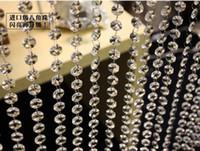 perles pour ficelle de décoration achat en gros de-chaîne de perles pour la décoration de mariage Un cristal de verre de qualité prisme chaîne de perles guirlande de mariage, cristal de sapin de Noël suspendus mèches enfilées