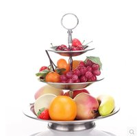 New Arrival One Piece! 3 Tier Cake Stand Centre Handle Cake Stand Handle Gold Argent 6 Style Christmas party cake outils