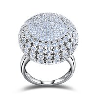 Wholesale Vintage Platinum Rings - ORSA Charming Platinum Plated 218 Pieces 2mm Zircon Full Paved Round Shaped Vintage Ring Very Beautiful Ring OR48