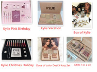 Kylie Vacation / Pink Birthday / Holiday / Collezione Fall / Scatola di Kylie / Dose of Colour Desi X Katy Christmas Edition Bundle Set da trucco Confezione regalo