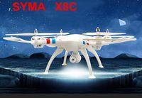 Wholesale Original Syma X8C Camera Drone G CH Axis RC Quadcopter w MP Camera Wide Angle Camera RTF RC Helicopter Drones Black White Orange
