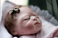 Wholesale inches vinyl Real Silicone Baby Doll Reborns Baby Handmade Boneca Reborn Baby Alive Toys Sleeping Girls Birthday Gift