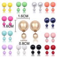 modeschmuck perlenohrringe großhandel-Neue Kristall-Art und Weise heißen Verkauf Glänzende nette Ohrringe Perle Kugel Ohrstecker große Perlen-Ohrringe für Frauen-Geschenk Großhandel Perlenschmuck