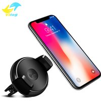 Wholesale Uk Degrees - Qi Wireless Car Charger 360 Degree Rotation Car Holder Qi Wireless Charger Pad For iphone X 7 8 plus Samsung S8 Plus