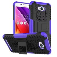 Wholesale Shock Lasers - FOR ASUS ZenFone 3 ZE552KL Deluxe Zs570kL Laser Zc551KL Dazzle Hybrid KickStand Impact Rugged Heavy Duty TPU+PC Shock Proof Cover Case 10pc