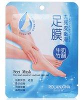 5packs=10pcs ROLANJONA feet mask Baby Foot Peeling Renewal Remove Dead Skin Smooth Exfoliating Care Socks For Pedicure