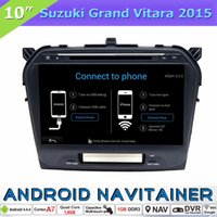 Wholesale Build Suzuki - 2 Din Car DVD GPS Multimedia Navigation System Android Quad Core for Suzuki Grand Vitara 2015 with Bluetooth Radio RDS OBD Touch Screen