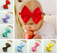 Wholesale Elegant Hair Bows - 2016 Baby Headband Children Hair Accessories Hair Bows Barrettes New Arrive Cheap Modest Fashion Christmas Bows Elegant In Stock Free