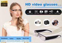 Wholesale Hd Slots - V13 HD 1080P spy glasses camera portable eyewear video recorder Hidden eyewear camera with TF Card Slot black