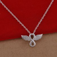 Wholesale Korean Wing Jewelry - 925 sterling silver necklace Korean version of the popular angel wing necklace jewelry wholesale trade spot